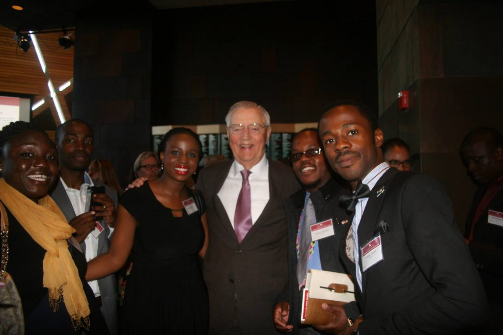 With former U.S VP Walter Mondale